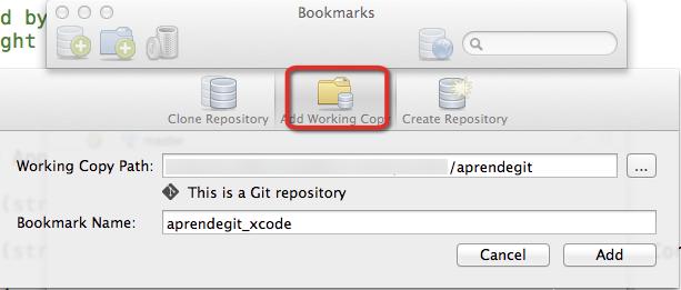 Añadiendo repositorio XCode a SourceTree paso 2