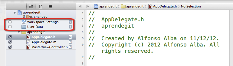 Commit desde XCode