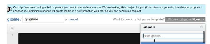Creando fichero sobre repositorio sin permiso de escritura