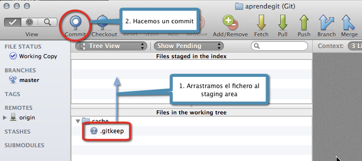 Añadiendo .gitkeep al repositorio con Bitbucket