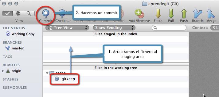 Añadiendo .gitkeep al repositorio con Bitbucket