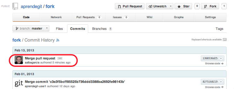 Merge commit tras el pull request
