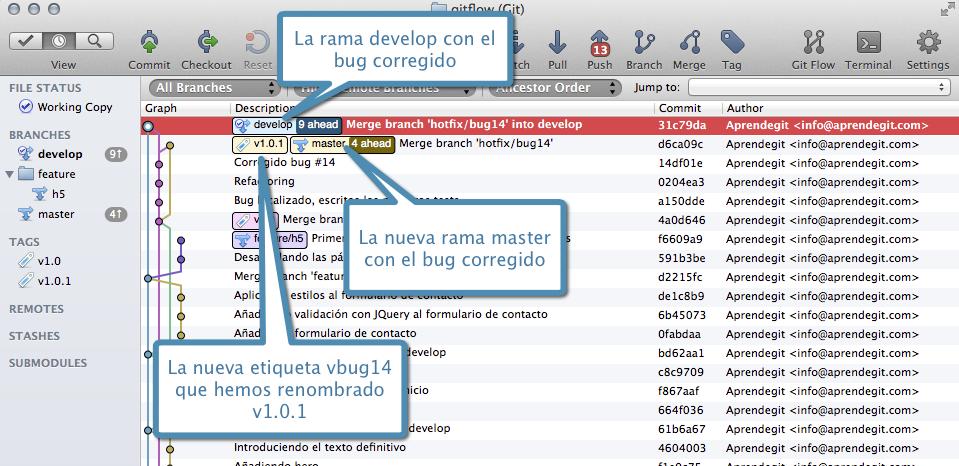 Repositorio tras cerrar hotfix/bug14