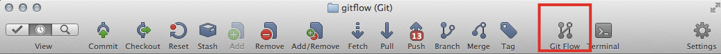 Botón de git-flow en sourcetree